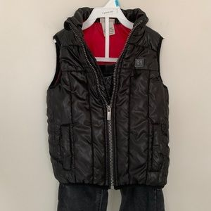2T Calvin Klein Jeans Black Puffer Vest/Jeans Set